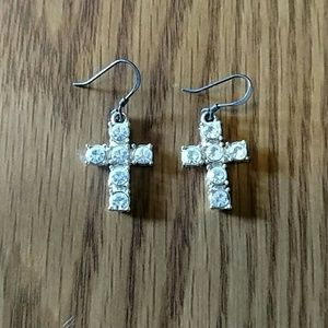 Jewelry - Diamond cross earrings
